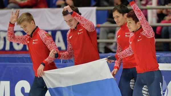 Семен Елистратов, Дмитрий Мигунов, Владимир Григорьев и Виктор Ан (слева направо). Архивное фото