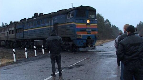 Поезд в Костромской области остановили для задержания вымогателя