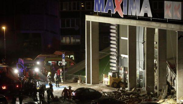Обрушение крыши супермаркета Maxima в Риге. Архивное фото