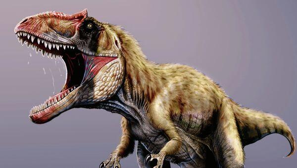 """Так художник представил себе """"киллера"""" тираннозавров из Юты (С) Jorge Gonzales"""