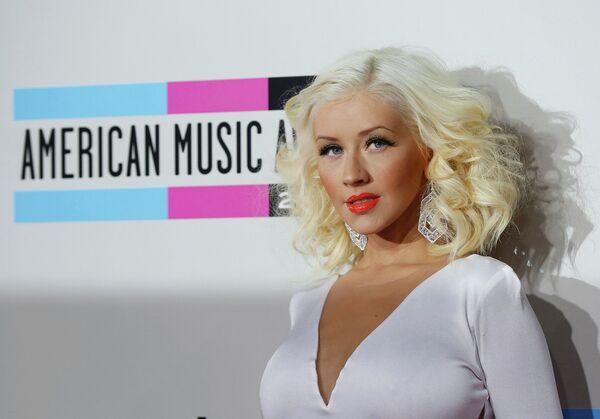 Американская певица Кристина Агилера на 41-й церемонии American Music Awards