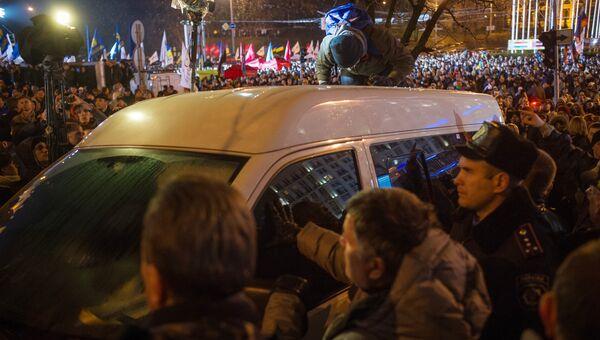 Митинг сторонников евроинтеграции Украины в Киеве. Фото с места события