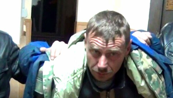 Задержание подозреваемого в убийстве семьи на Кубани. Оперативная съемка
