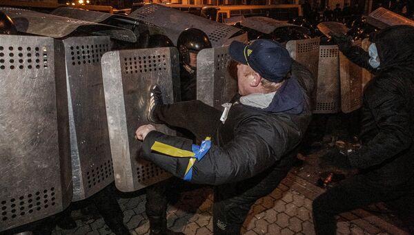 Протесты сторонников евроинтеграции Украины. Архивное фото