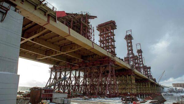 Строительство третьего моста в Новосибирске, архивное фото