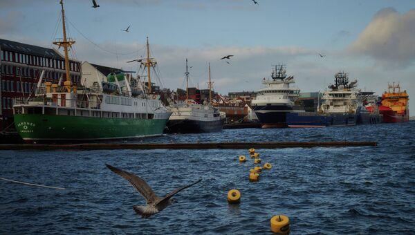 Корабли в порту Ставангера.