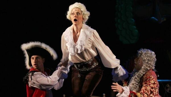 Сцена из спектакля Труффальдино из Бергамо