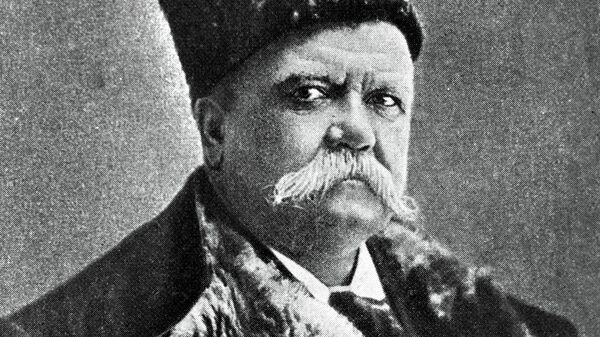 Писатель Владимир Алексеевич Гиляровский (1853 - 1935 г. г.), архивное фото