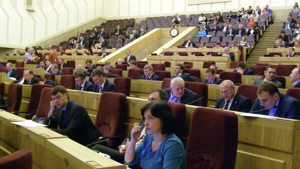 Сессия Законодательного собрания Новосибирской области, архивное фото
