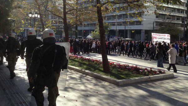 Афины. Беспорядки и полиция. Архивное фото
