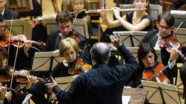 Концерт Симфонического оркестра Мариинского театра под управлением Валерия Гергиева. Архивное фото