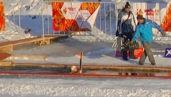 Сноубордисты, альпинисты и моржи пронесли огонь ОИ-2014 по Тюмени