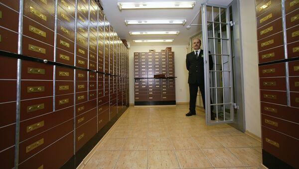 Хранилище банка, архивное фото