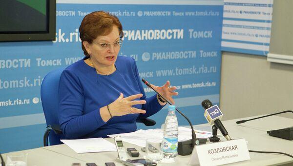 Оксана Козловская, председатель Законодательной Думы Томской области, архивное фото