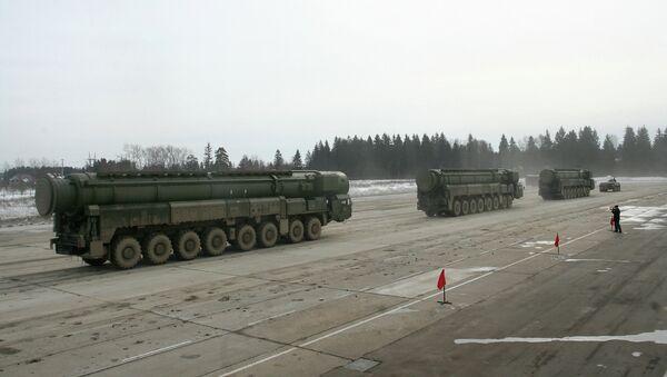 Три автономных пусковых установки РВСН. Архивное фото