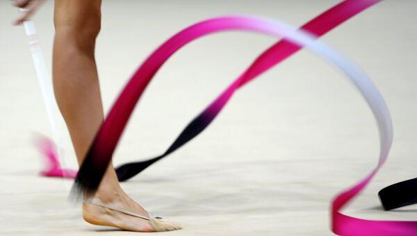 Художественная гимнастика. Архивное фото.