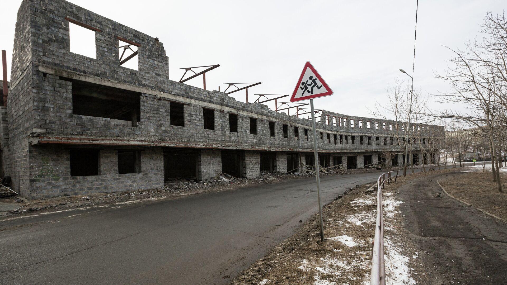 Недостроенное здание - РИА Новости, 1920, 21.10.2020