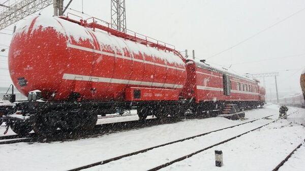 Пожарный поезд, событийное фото