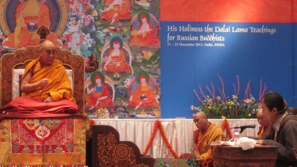 Учения Далай-ламы в Дели для россиян