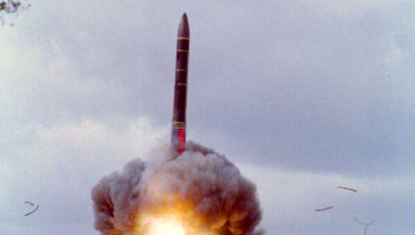 Запуск баллистической ракеты Ярс. Архивное фото