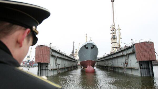 Головной фрегат ВМФ РФ Адмирал флота Сергей Горшков. Архивное фото