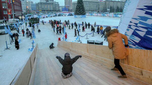 площадь Ленина в Новосибирске, архивное фото