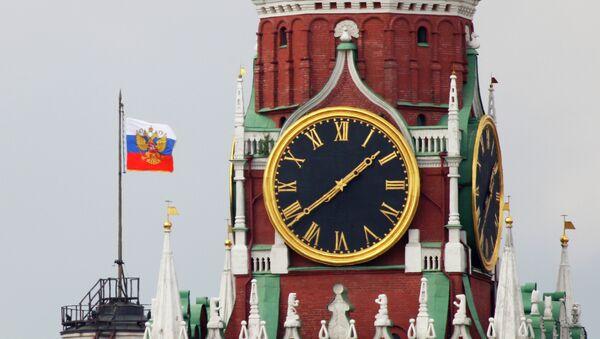 Часы на Спасской башне Кремля. Архивное фото