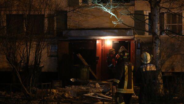 Взрыв в жилом доме в Санкт-Петербурге. Фото с места события