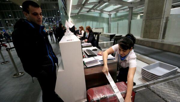 Зона досмотра багажа в аэропорту. Архивное фото