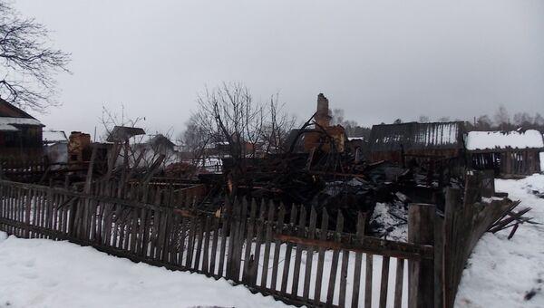 Пожар под Костромой, где погибли дети, фото с места события