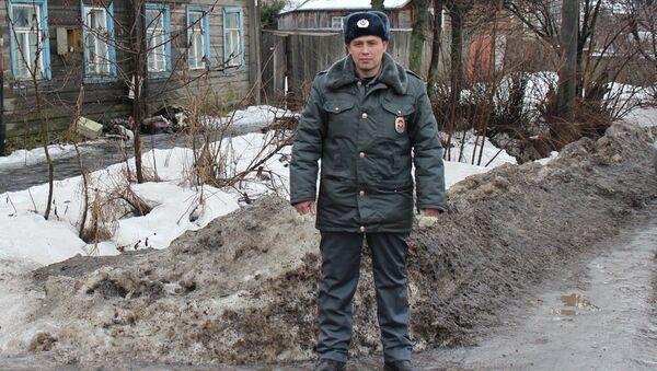 Сержант полиции Федор Хорошилов, спасший человека на пожаре в Галиче