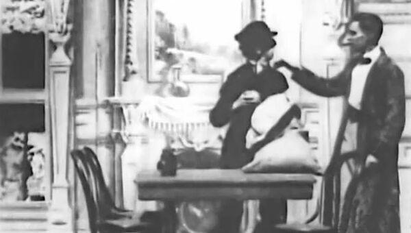 Кадр из фильма Озадаченный Шерлок Холмс, 1900 год