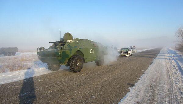 На месте столкновения иномарки с бронемашиной в Приамурье
