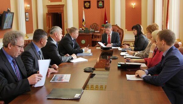 Встреча властей Приамурья и руководства ЗабЖД, фото с места события