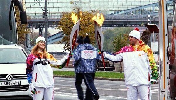 Сотрудники РИА Новости на эстафете огня Игр-2014. Самые яркие моменты
