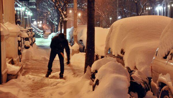 Буран в Нью-Йорке