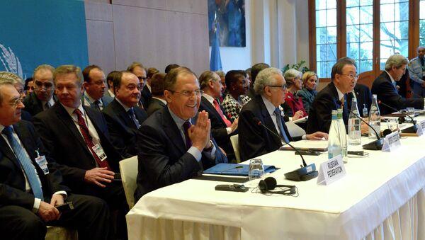 Пленарное заседание международной конференции по Сирии Женева-2