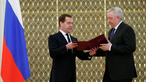 Д.Медведев вручил премии правительства в области качества