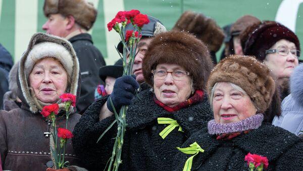 Блокадники Ленинграда, архивное фото