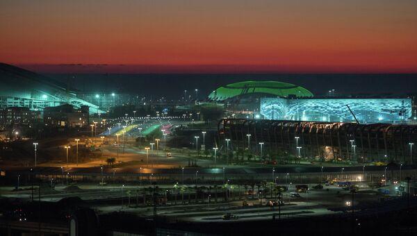 Вид на Олимпийский парк в Имеретинской долине Сочи. Архивное фото
