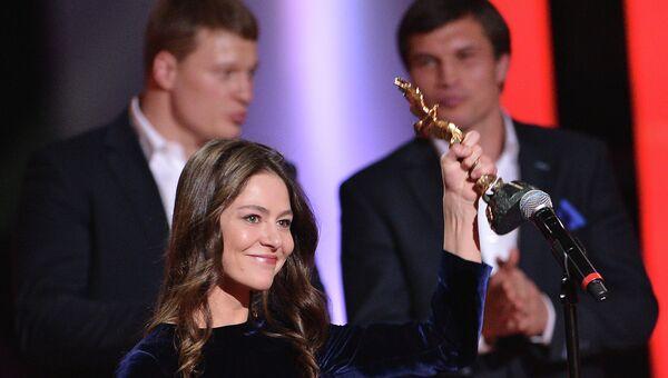 Актриса Елена Лядова  на церемонии вручения премии Золотой Орел