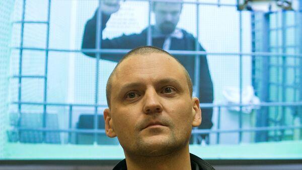 Оппозиционеры Сергей Удальцов и Леонид Развозжаев. Архивное фото