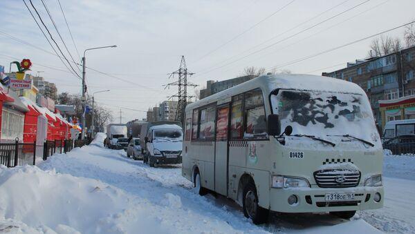 Снегопад в Ростове-на-Дону. Архивное фото