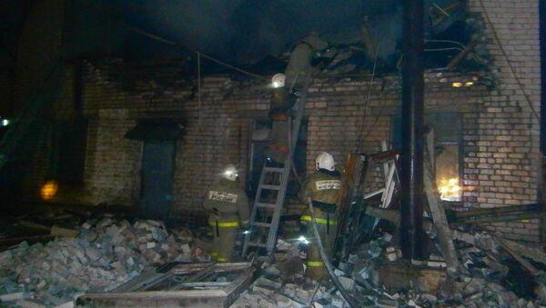 Последствия взрыва баллона с пропаном и пожара в Мелехово Владимирской области