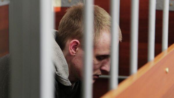 Обвиняемый в убийстве псковского священника Сергей Пчелинцев в зале суда, архивное фото