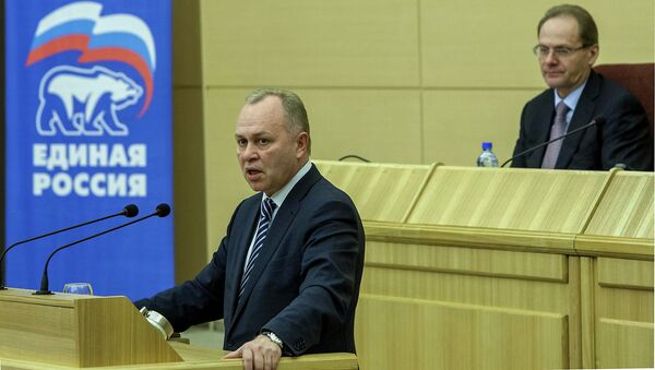 Владимир Знатков и Василий Юрченко во время внутрипартийных праймериз партии Единая Россия