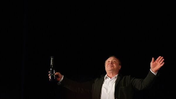 Художественный руководитель московского театра Школа современной пьесы Иосиф Райхельгауз на открытии новой сцены театра в Театральном клубе на Тишинке