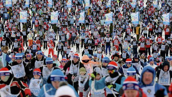 Всероссийская массовая лыжная гонка Лыжня России – 2014. Архивное фото
