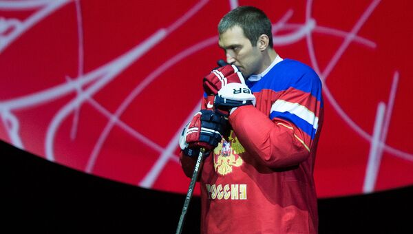 Игрок сборной России по хоккею Александр Овечкин