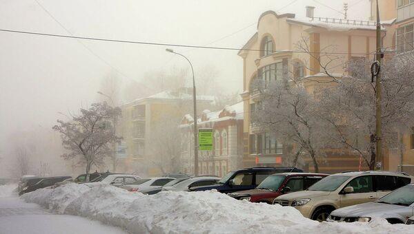 Морозы в Новосибирске